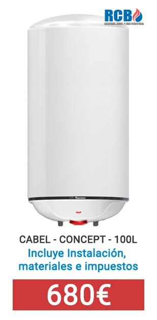 Calentador Cabel Concept 100 litros